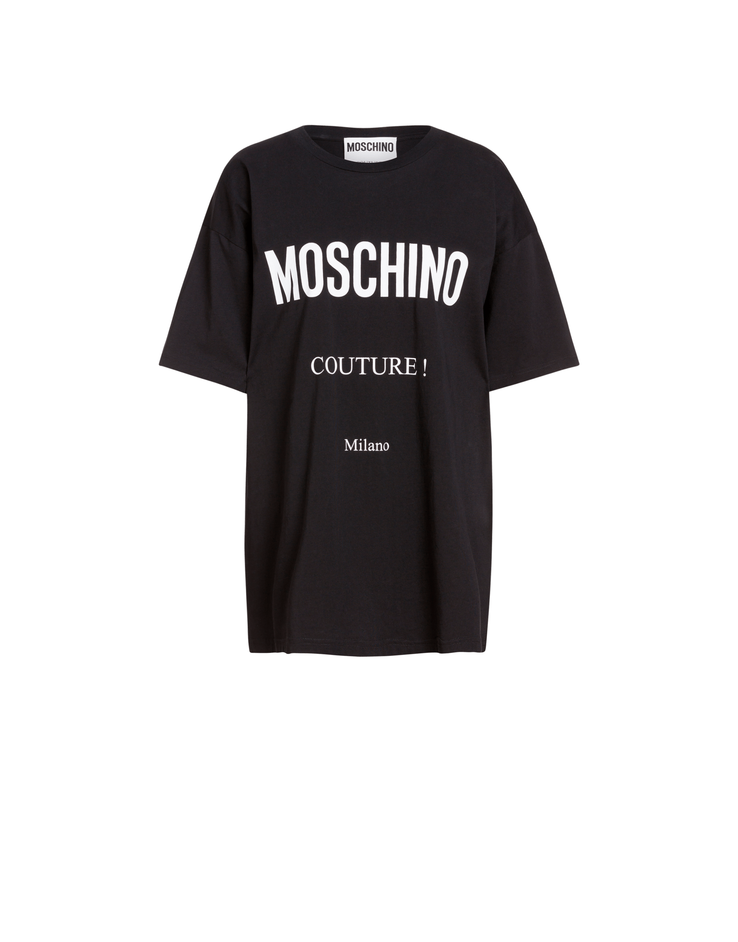 buy cheap fantastic savings wholesale online T-shirt in cotton jersey with Moschino Couture print