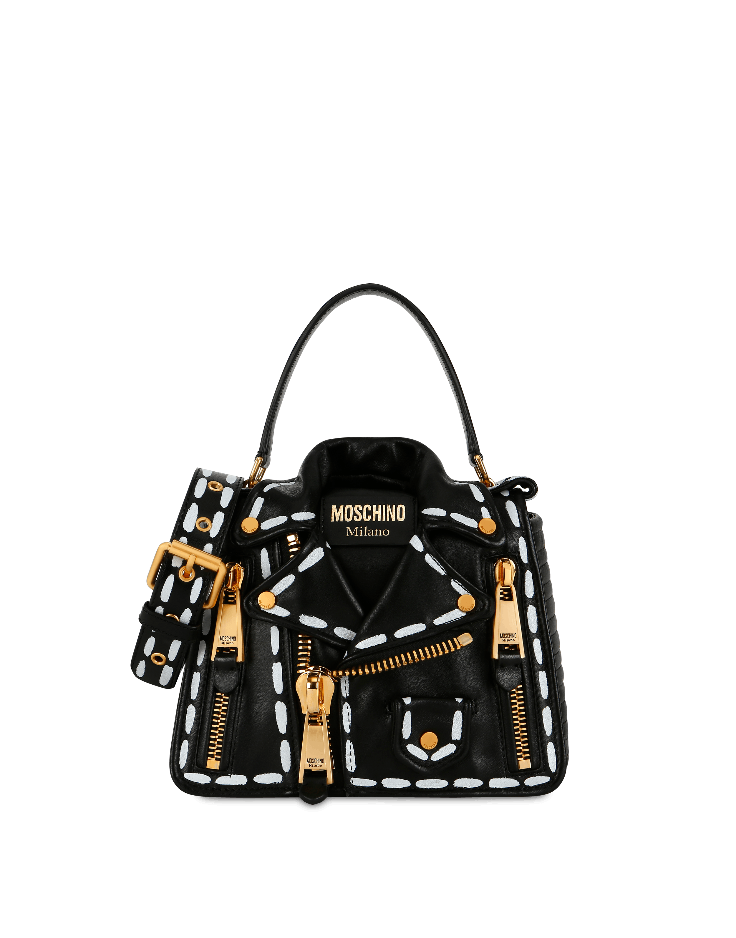 2fa115d65 Biker bag with Stitching print | Moschino Shop Online