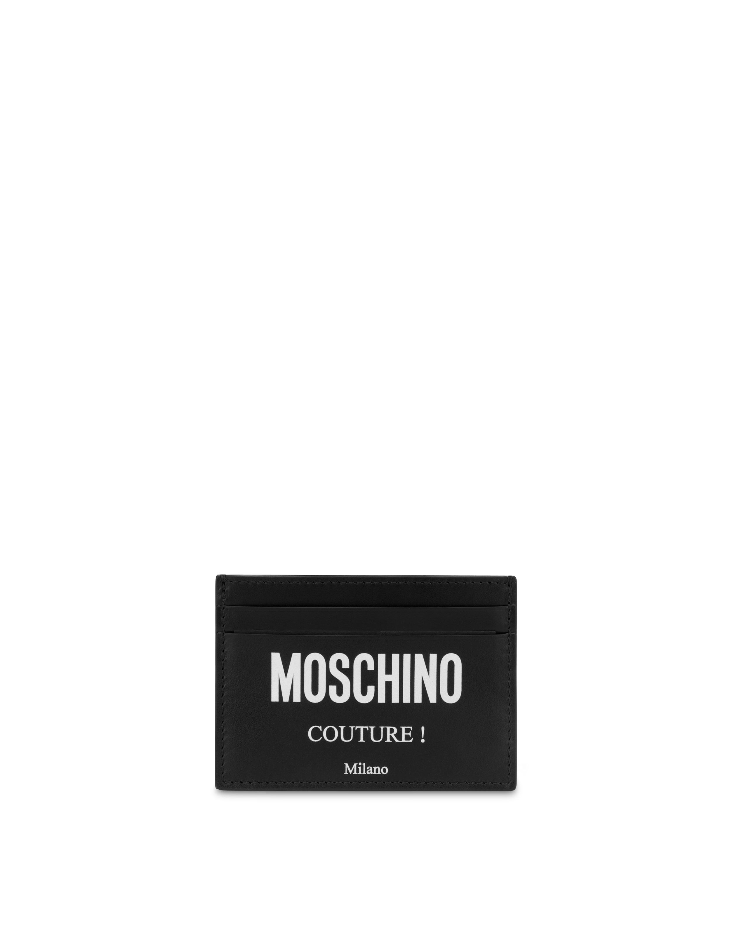 best website 3ef55 68435 Moschino Couture leather card case