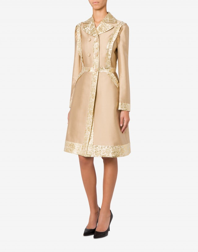 Inside Out mikado coat