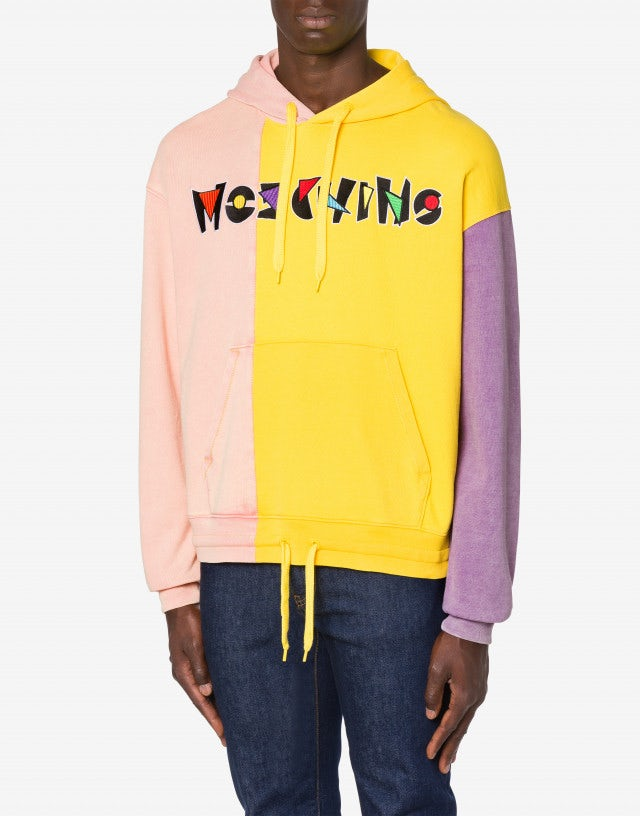 Geometric Logo colour block sweatshirt