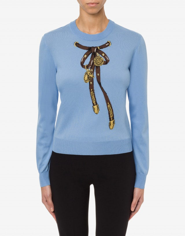 Pullover in viscosa stretch Bridle Bow