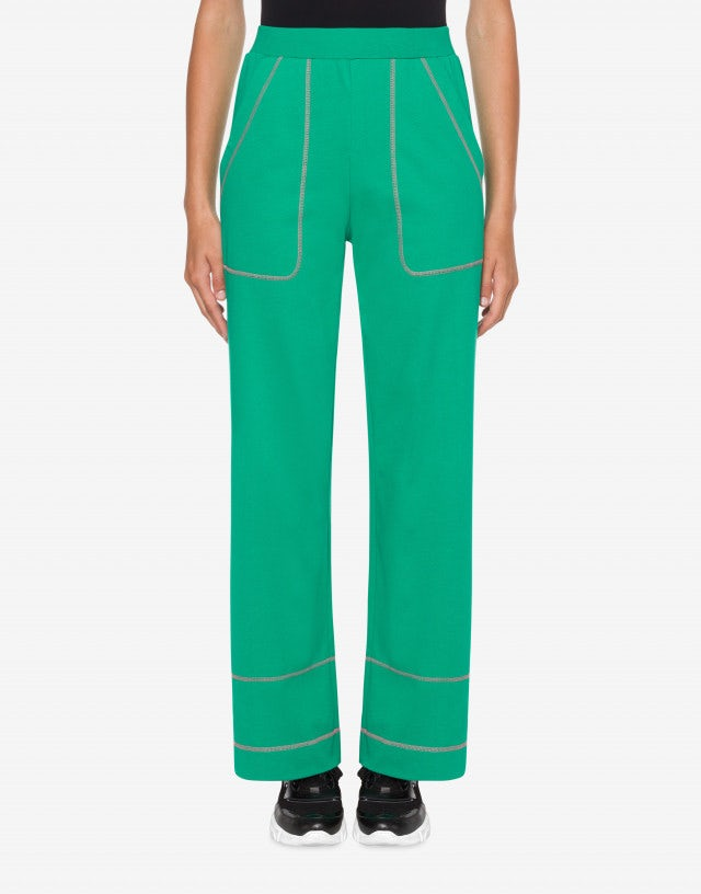 Palazzo pants in heavy jersey