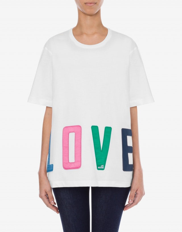 Colorful Lettering jersey t-shirt