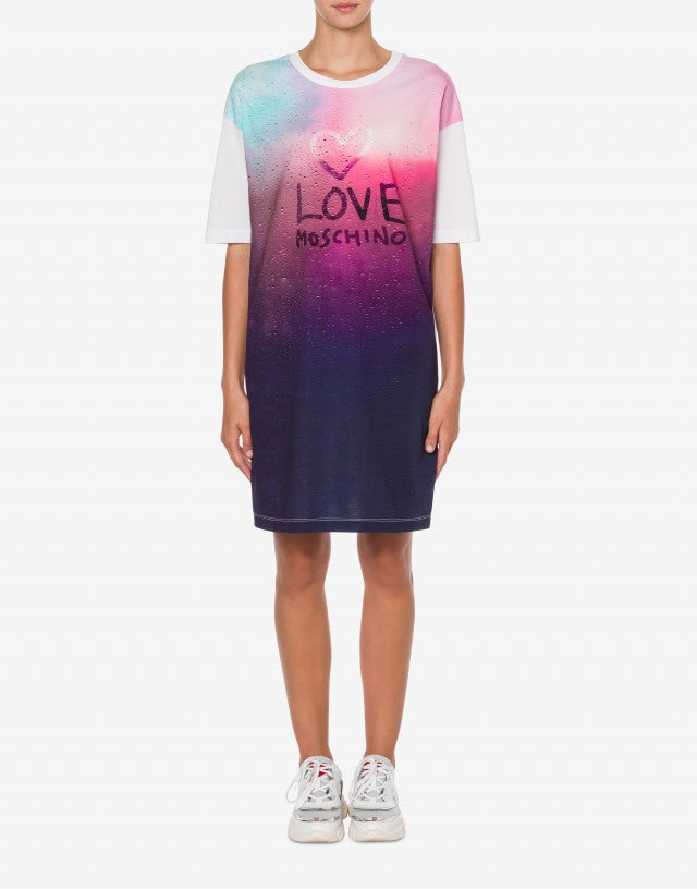 Frosted Glass Logo Jersey dress