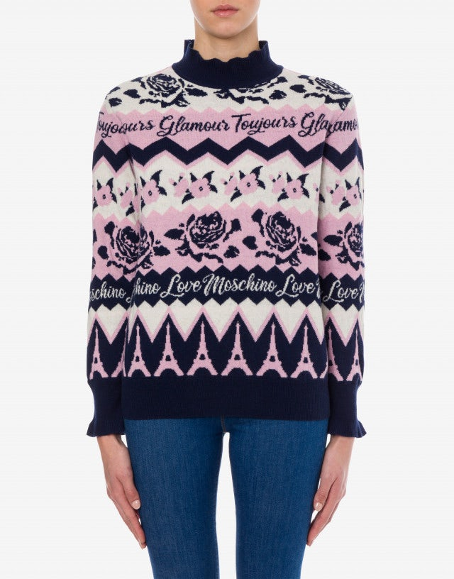 Toujours Glamour blend wool jumper