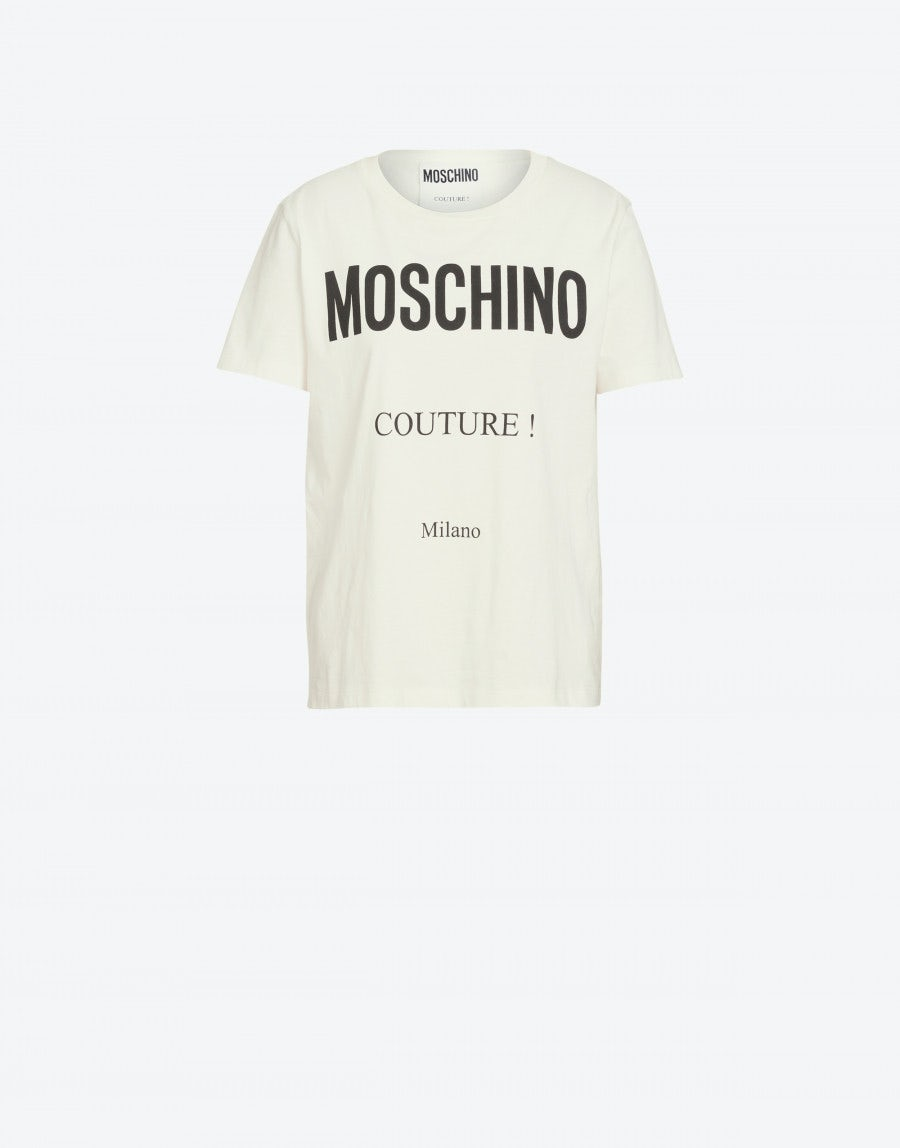 best sneakers a5f8a 4a6b4 T-shirt in cotone con logo Moschino Couture