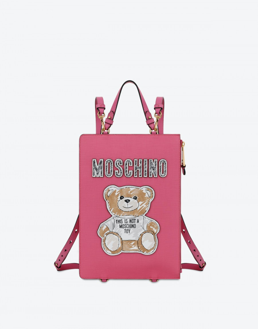 08ee1157d0 Clutch backpack with Brushstroke Teddy Bear | Moschino Shop Online