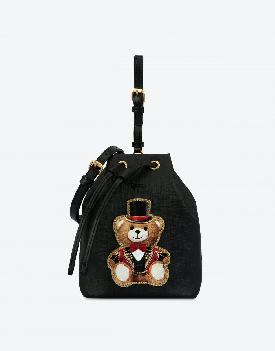 c92f20cfd3 Bucket bag with Teddy Circus | Moschino Shop Online