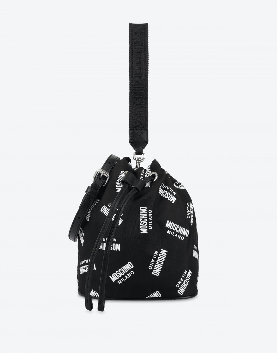 7187601e17b Bucket bag with all over logo | Moschino Shop Online