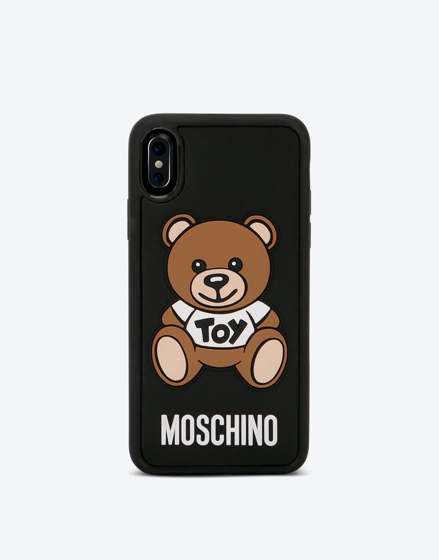 best cheap e98cf bcac6 Iphone X cover with MoschinoTeddy Bear application