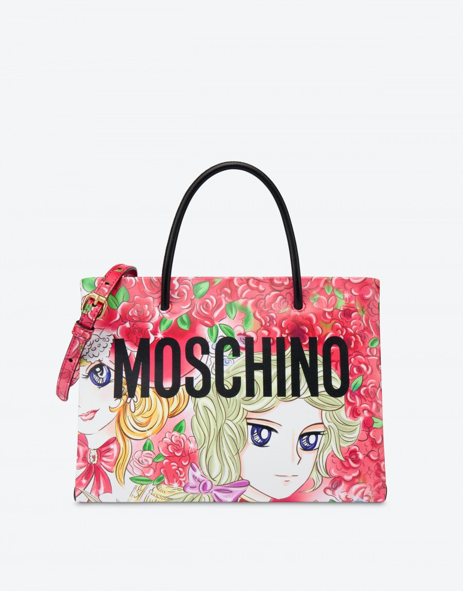 Shopping Bag With Animé Print Moschino Official Online Shop