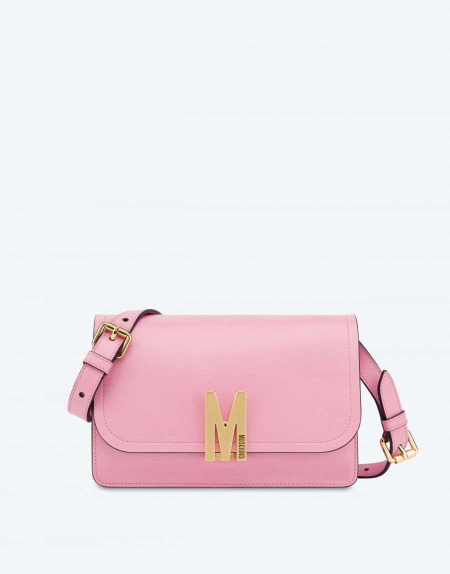 Moschino Leathers M BAG IN CALFSKIN