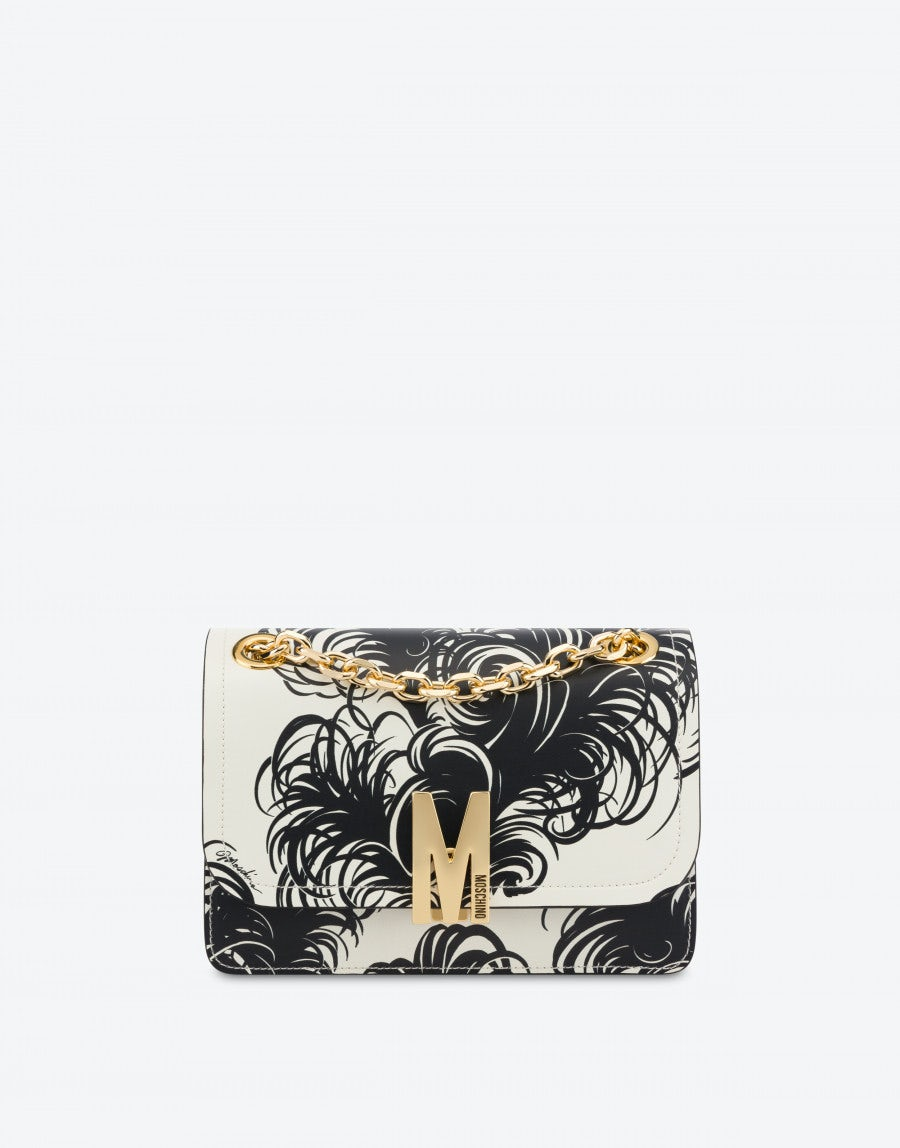 Moschino M BAG ALLOVER FEATHERS