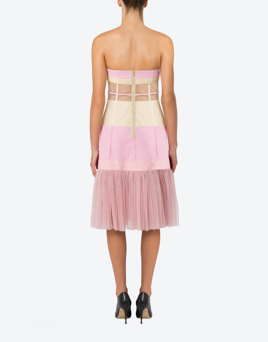 MOSCHINO Mini dresses OTTOMAN DRESS DECONSTRUCTED COUTURE