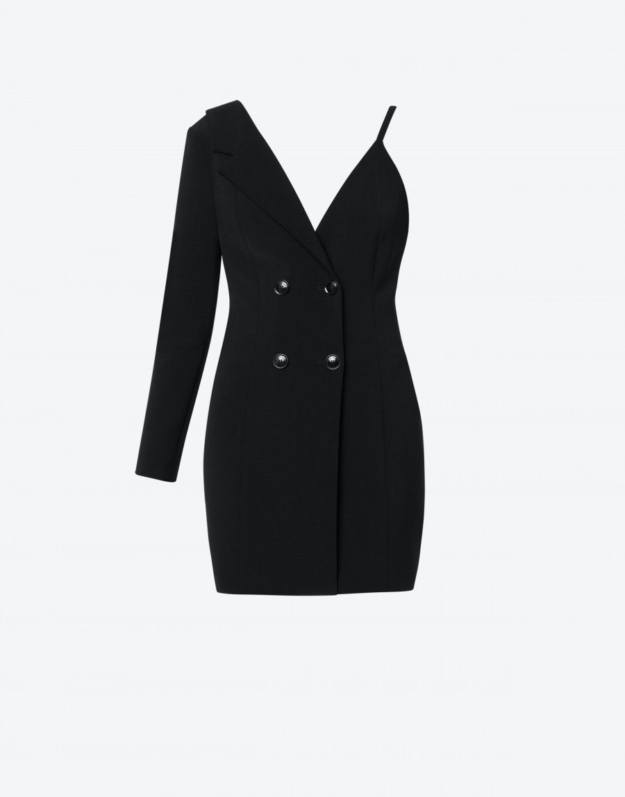 Boutique Moschino Linings ROBE MONTEAU DRESS IN CADY