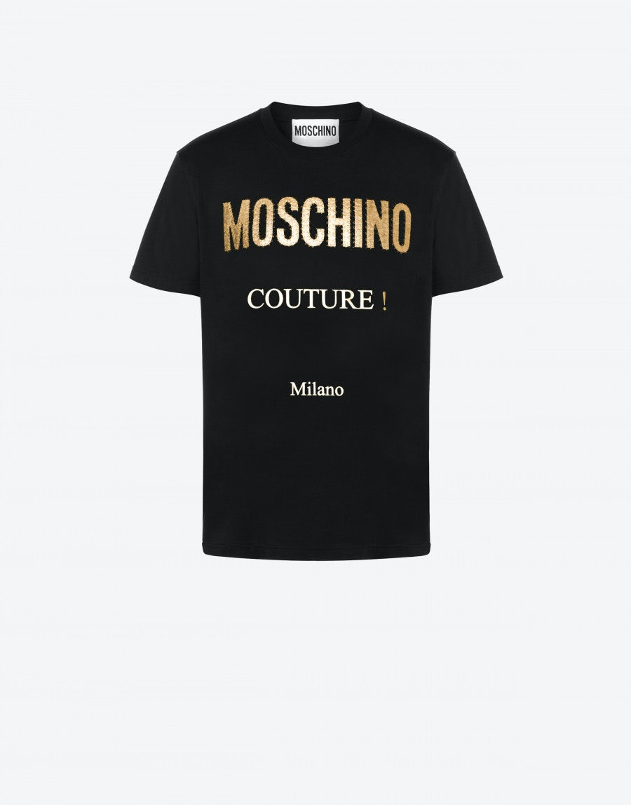 Moschino JERSEY T-SHIRT GOLDEN LOGO
