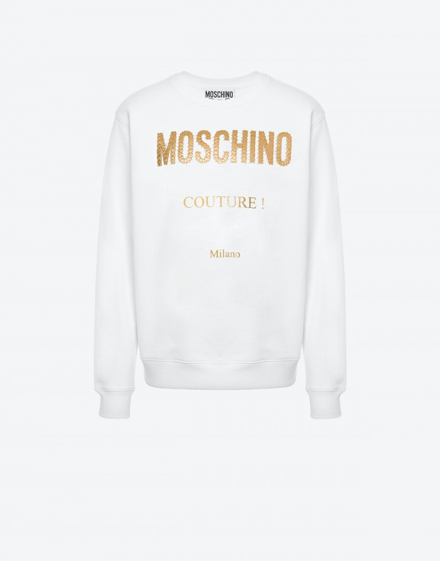 Moschino COTTON SWEATSHIRT GOLDEN LOGO