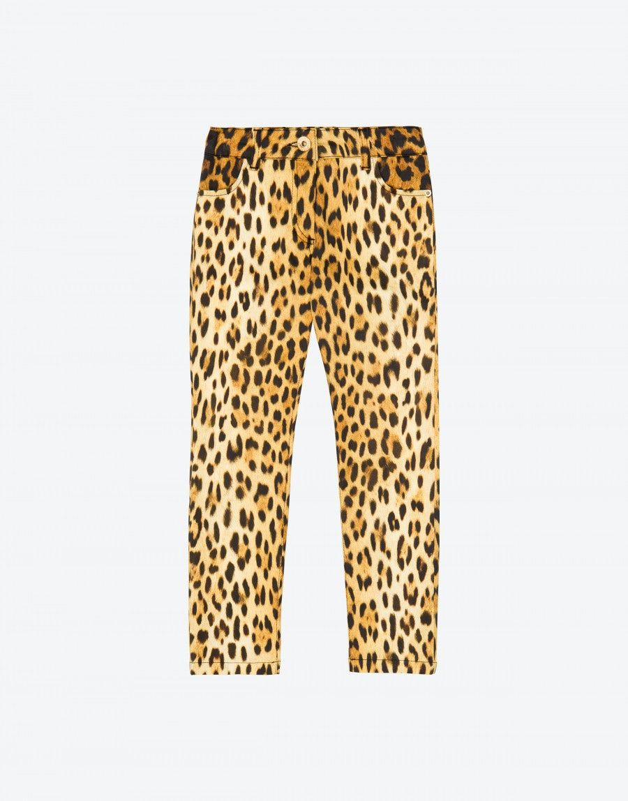 ed0502aa5c4a Leopard print trousers   Moschino Shop Online