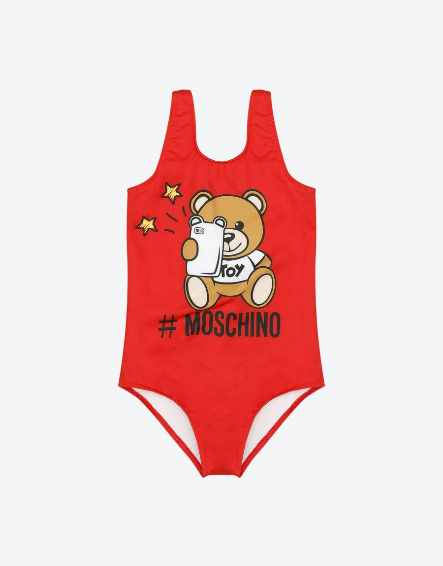 e55c7bfb38c22 One piece swimsuit with Teddy Bear Selfie | Moschino Shop Online