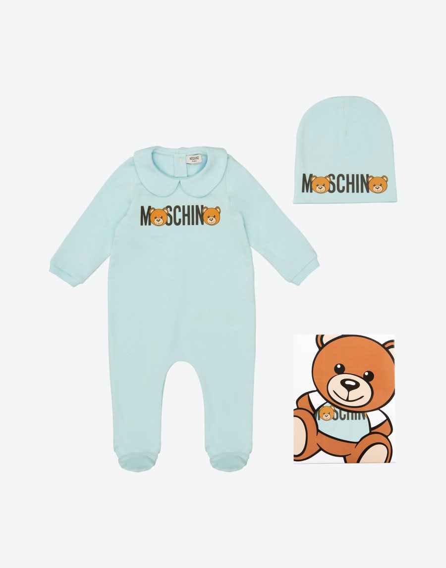 c6637223035 Rompers and hat set with Logo Teddy Bear - Boy - Baby (0-3 years old) -  Kids - Moschino