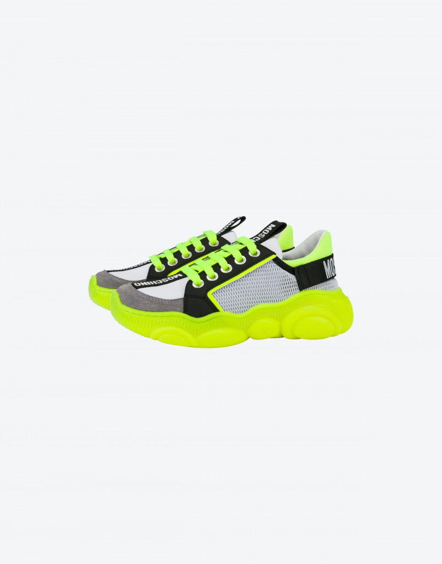 Teddy Fluo sneakers in calfskin and