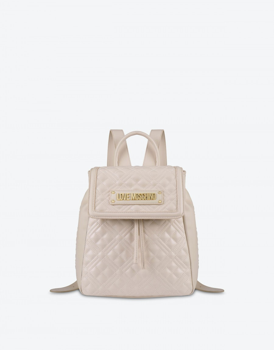 Love Moschino Quilted backpack with logo
