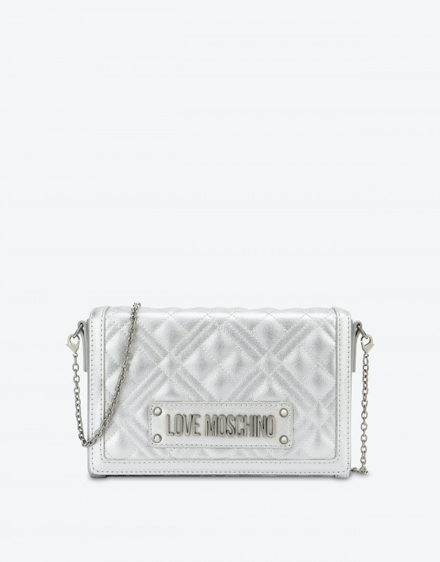 Quilted Evening Bag With Logo