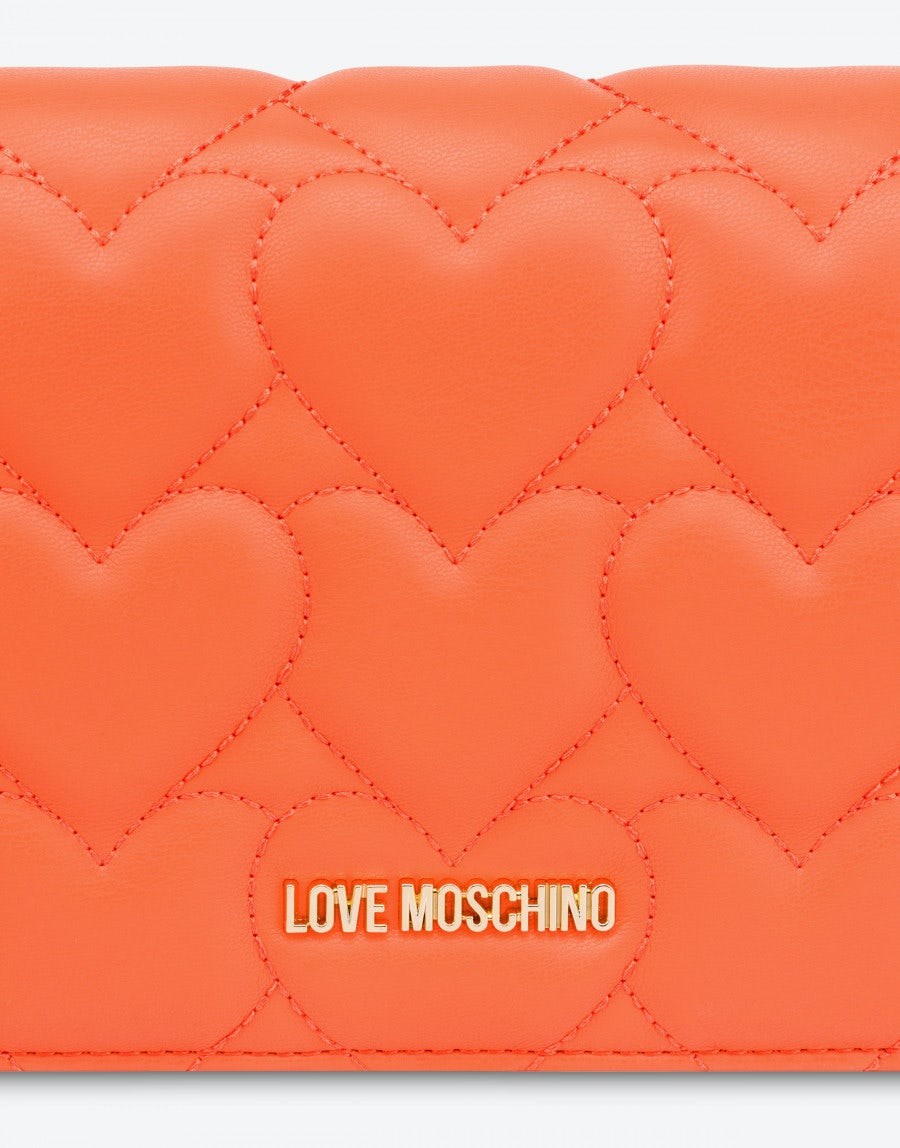 LOVE MOSCHINO Clutches CLUTCH HEART QUILTING