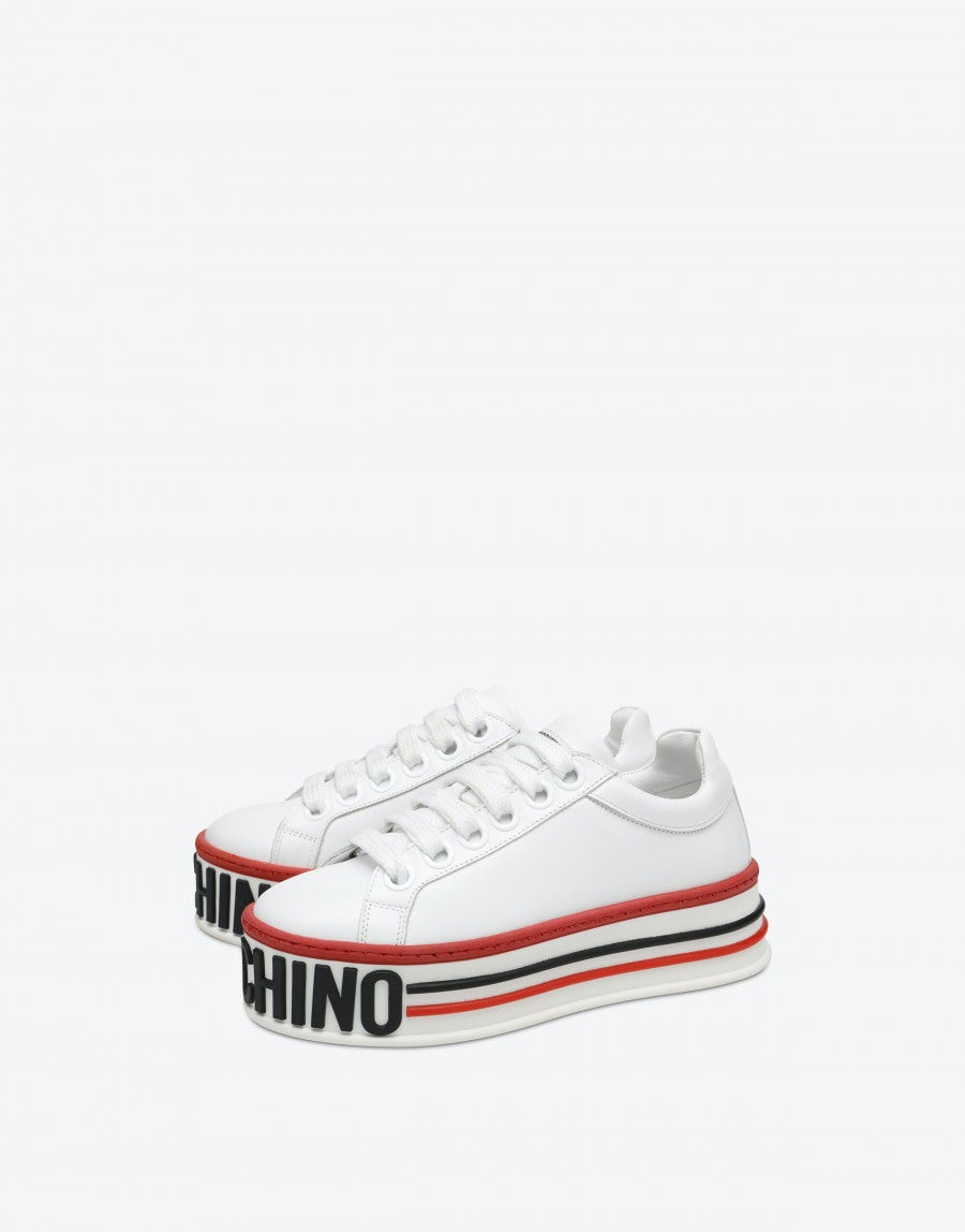 Platform sneakers   Moschino Official