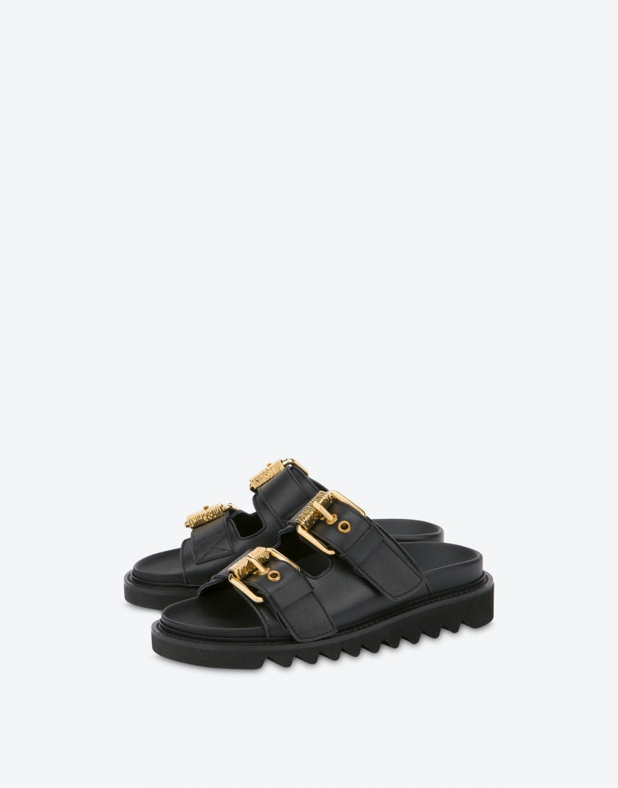 Sandals with buckles | Moschino