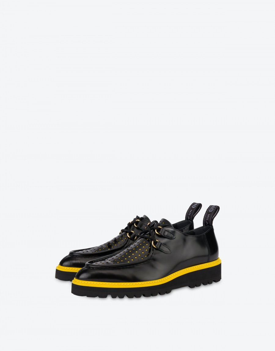 Moschino Lace-up shoes in perforated calfskin