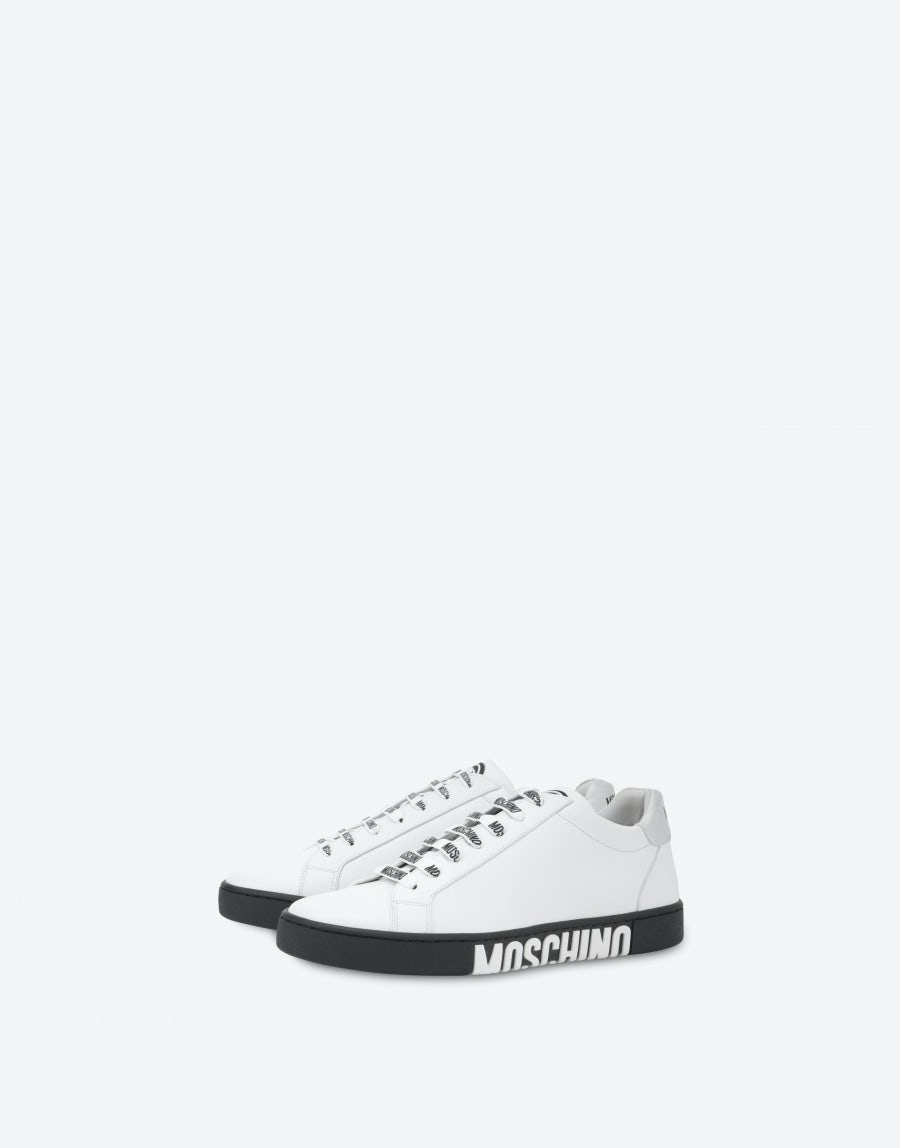 Moschino Leathers Double Question Mark sneakers