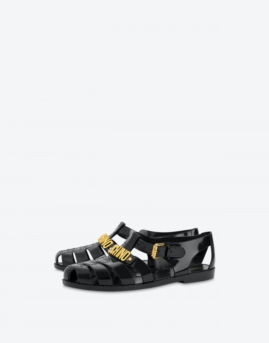 Jelly sandals with Lettering logo