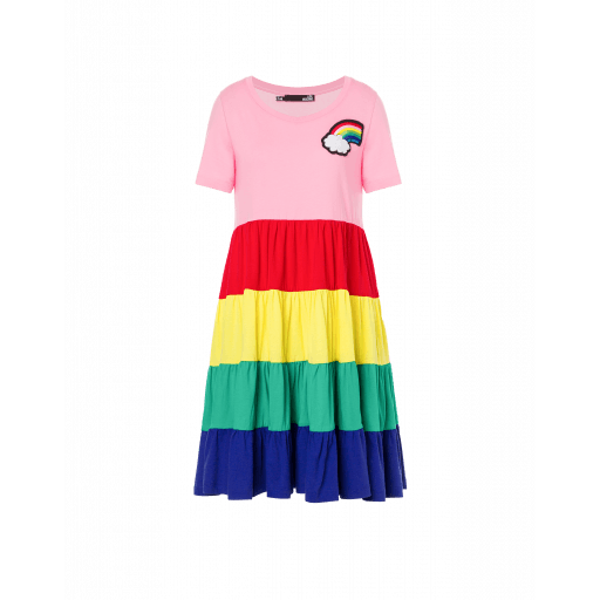 Robe En Jersey Rainbow - Love Moschino - Modalova