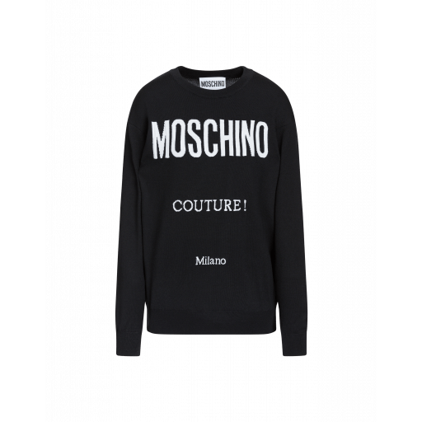 Suéter Con Estampado Moschino Couture