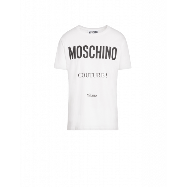 T-shirt En Coton Avec Impression Couture - Moschino - Modalova