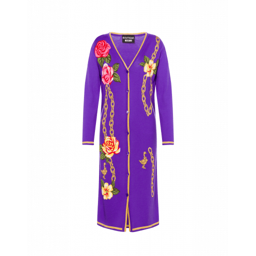 Robe En Laine Flowers And Chains - Boutique Moschino - Modalova