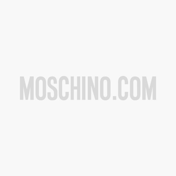 Gants En Peau Avec Mini Lettering Logo - Moschino - Modalova