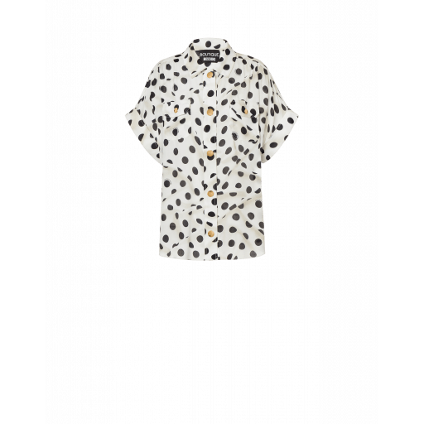 Chemise En Soie Et Viscose Polka Dots Abstract - Boutique Moschino - Modalova